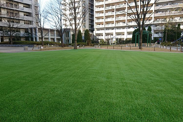 千葉県マンション中庭人工芝