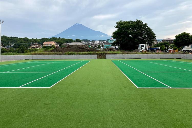 静岡県富士市テニスコート新設工事