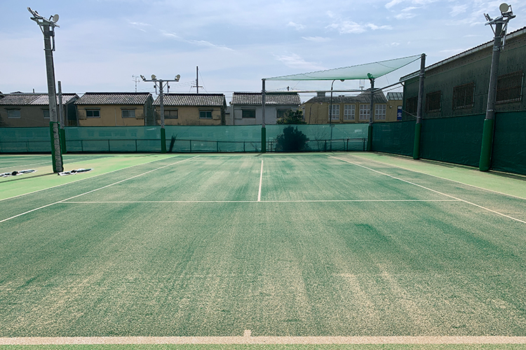 tennis egg 枚方校 テニスコート新設工事