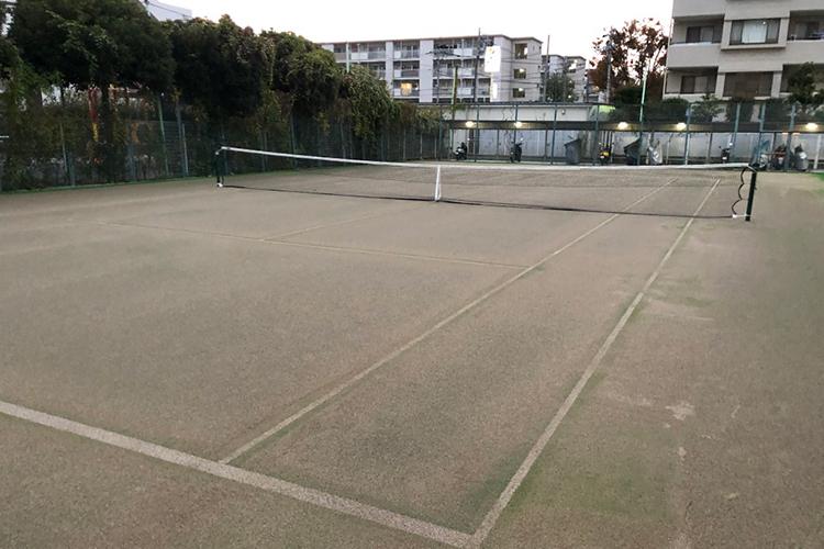 板橋区テニスコート人工芝