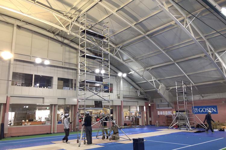 ノアインドアステージ 和光成増校 LED照明工事