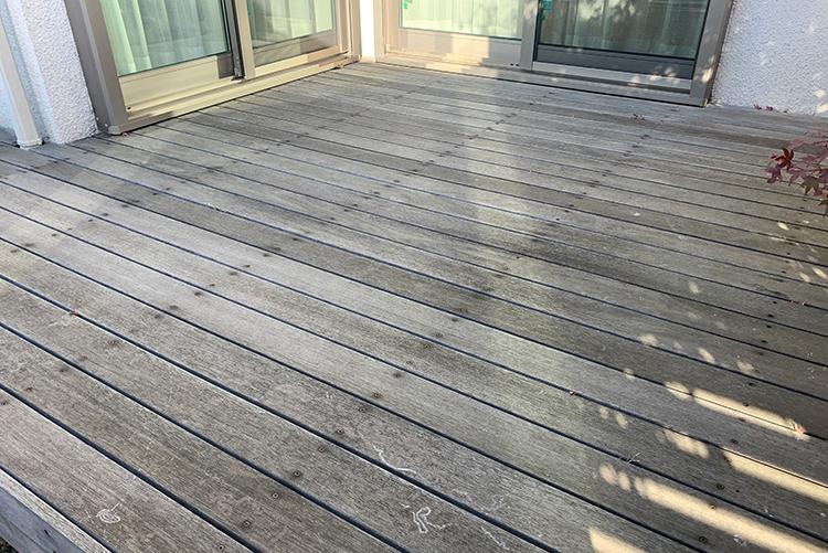 茨城県個人宅ウッドデッキ メンテナンス工事