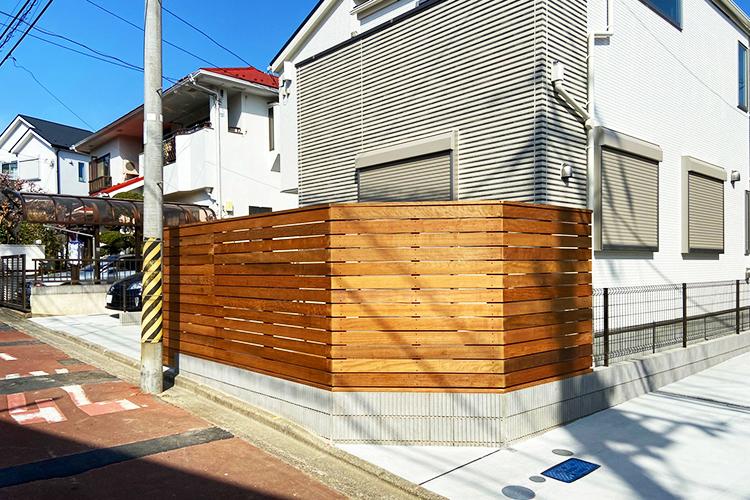 神奈川県横浜市個人宅 ウッドデッキフェンス工事