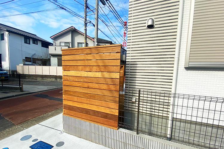 神奈川県横浜市個人宅様ウッドデッキフェンス